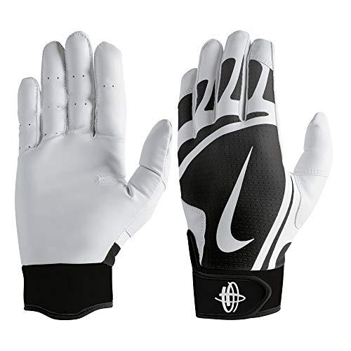 Nike Huarache Edge Baseball Handschuhe, Batting Gloves - schwarz/weiß Gr. XL (Nike-baseball-handschuh)