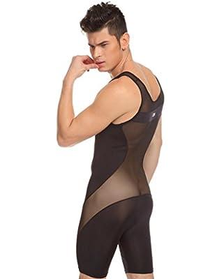 Zacoo Sexy Men Body Overall Bodysuit Boxer Underwear