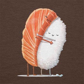 Texlab–Sushi Love–sacchetto di stoffa Marrone