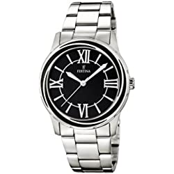 Festina F16722/2 - Reloj de cuarzo para mujer, con correa de acero inoxidable, color plateado