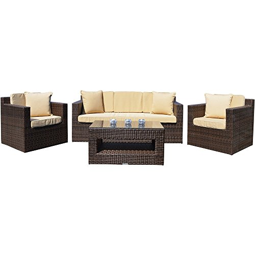 Richmond all weather outdoor rattan garden furniture sofa for All weather garden furniture