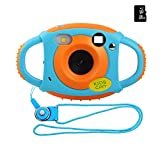 Miavogo Kinderkamera Kamera für Kinder 5 Megapixel 1,77 Zoll LCD, Orange + 16GB Mini SD-Karte(Generation 2.)