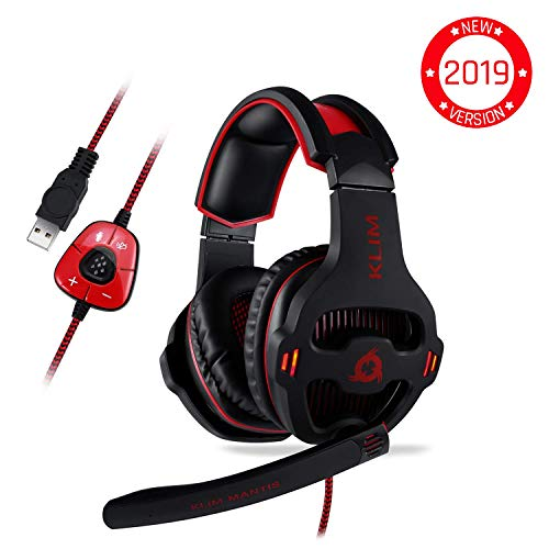 eadset - USB 7.1 Gaming Kopfhörer - Hohe Qualität mit mikrofon - Für PC Mac PS4 Laptop Games - Over Ear Gamer Headphones - Noise Cancelling Microphone [ Neue 2019 Version ] ()