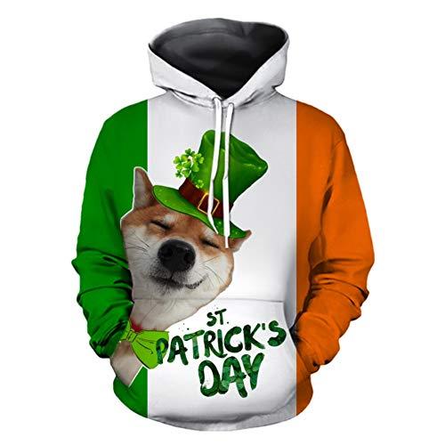 St. Patrick's Day Irish Sweatshirt Green Hooded Costumes for Men Women Sweatshirt Gift