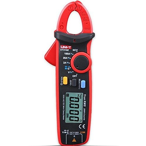 mark8shop Uni-T ut210e Digital Auto Range 2000 Counts True RMS Stromzange Zangen Multimeter Zangenamperemeter Amperemeter Voltmeter Widerstand Frequenz Kapazität Temperatur Tester