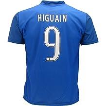 Camiseta Jersey Azul Futbol Juventus Gonzalo Higuain 9 Replica Talla de Niño Autorizado (12 años