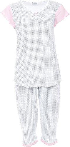 Charmor Shorty Interlock-Jersey weiß/graue Tupfen Größe 40