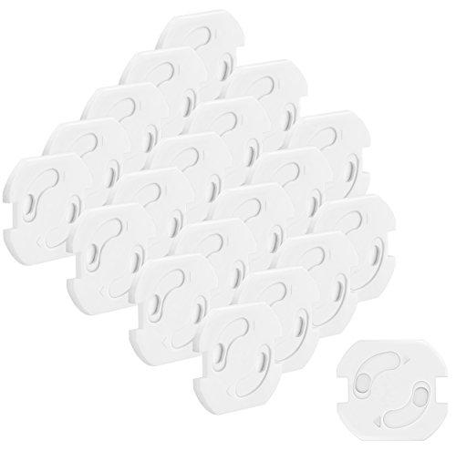 mumbi 20er Set Kindersicherung für Steckdosen - Steckdosenschutz mit Drehmechanik