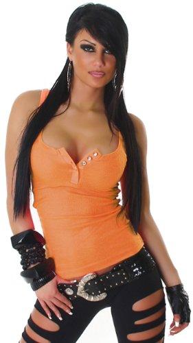 JELA London - Débardeur - Col ras du cou - Sans manche - Femme Rouge - Red - Orange