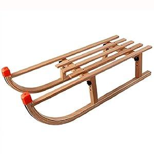SLHLAWWE Folding Holzschlitten Motorschlitten Schlitten Tragbarer Ski Brett Premium-Kinderschlitten Kleinkind Boggan Kinder Pull Push-Schlitten Im Freien EIS-Schnee-Schlitten (Size : 90×38×27cm)