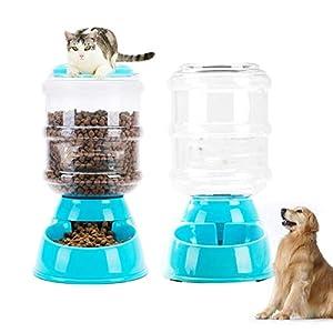 CHENYAJUAN Godet d'alimentation Distributeur d'eau d'alimentation Animaux De Compagnie Chien Chat Bol en Plastique Chien Bol De Nourriture (3.8L)