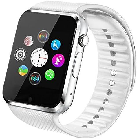 Fantime Relojes Inteligentes Smartwatch Bluetooth smartwatches Relojes de pulsera Soporte Llamada Mensaje Podómetro/Pantalla Táctil /Facebook/Twitter/Monitor de sueño Internet SIM/TF para Android Teléfonos Inteligentes