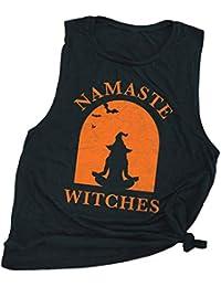 Namaste Withches Print Débardeur Halloween Racerback Gym Vest pour Les  Femmes 3e5dc1d9713
