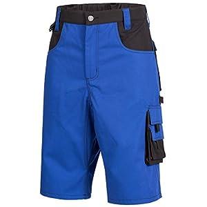 NITRAS Motion Tex Bermuda Laboral – Pantalón Corto de Trabajo – Azules