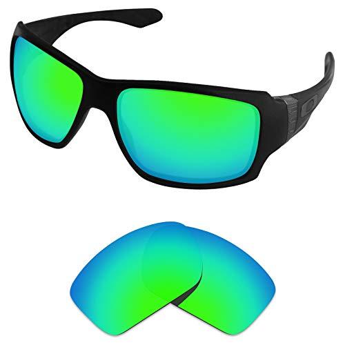 sunglasses restorer Kompatibel Ersatzgläser für Oakley Big Taco, Polarisierte Sapphire Green Linsen