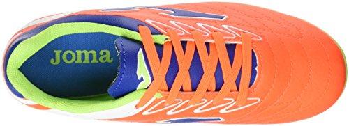 Joma Toledo Jr 608 Naranja Fluor 22 Tacos, Chaussures de Football Garçon Orange fluo