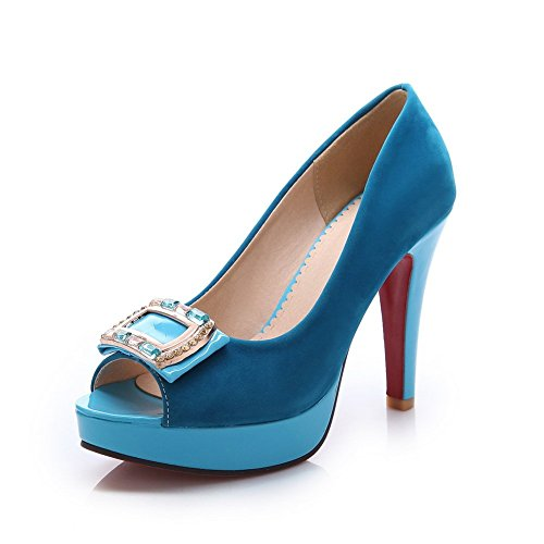 Adee Strass Sandalen High heels Damen Dunkelblau Frosted p8Uw6
