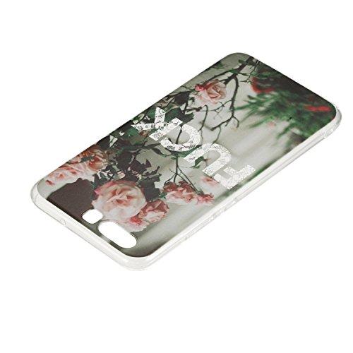 ARTLU® Coque Bumper pourHuawei P10 plus Soft Silicone Tpu Coque Mode,Huawei P10 plus Flexible Souple Case,Mignonne Design Transparente Crystal Clair Souple Gel Housse Coque Protecteur Back Cover Defen A9