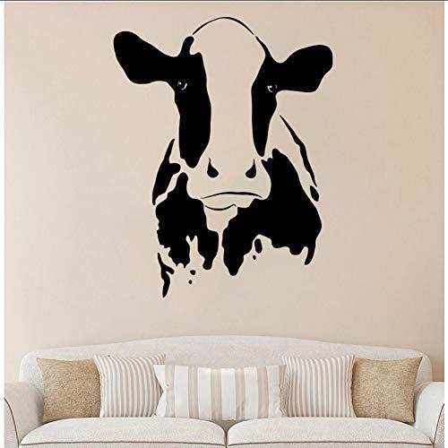 andaufkleber Tiere Wandaufkleber Home Decration Baby Kinder Schlafzimmer Dekor Kuh Kopf Kunstwand Wohnzimmer Tapete 80 * 101 cm ()