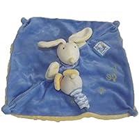 Preisvergleich für Moulin Roty Kuscheltier Moulin Roty Hase flach liest und Lulu blau Handpuppe–6121