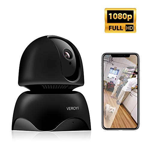 Veroyi 1080P Full HD IP Camera Wireless WiFi Home Security Surveillance  Camera with Two-Way Audio, Motion Detection, IR Night Vision for Baby Elder