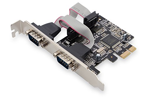 DIGITUS Interface Karte, PCIe, serielle RS232 Schnittstellen, 2x DSUB 9, inkl. Low Profile Slotblende, Chipsatz: MCS9901