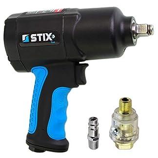 Llave de impacto STT-15 doble mecanismo de impacto 1/2 pulgada neumática 1500 Nm + mini aceite 1/4″ de aire comprimido