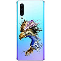 Oihxse Compatible con Huawei Mate 30 Pro Funda Suave Gel TPU Silicona Cristal Transparente Carcasa Acuarela Animal Pintado Patrón Protectora Estuche Bumper Caso Case (B4)