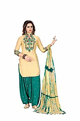 Fashion Stuff New Queen of Patiyala punjabi embroidery suits for women(1182_Light Yellow)