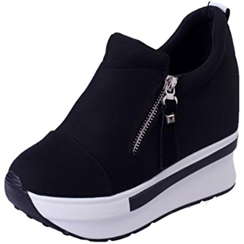 Yogogo Femmes Bottes CompenséEs Chaussures à Semelles CompenséEs Slip Sur Mode La Cheville Mode Sur DéContractéE Chaussures - B076GXC167 - 3b40e1