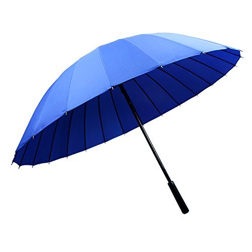 WILLIAM&KATE Bigger Windproof 24 Bone Durable Pure Color Golf Long Handle Business Umbrella