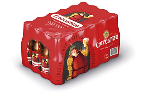Cruzcampo Beer - Box of 24 Bottles x 250 ml - Total: 6 L
