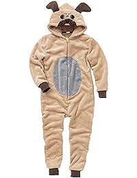 ONESIES Animal Crazy Childs niños niñas Supersoft Pug Perro Jumpsuit Playsuit