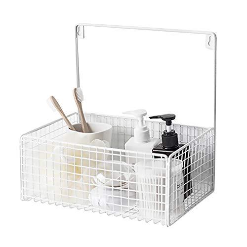 Urijk Metall Ablagekorb Wandregal Wandmontage Schreibtisch Bücherregal für Flur Schlafzimmer Küche Badezimmer 1 Stück -