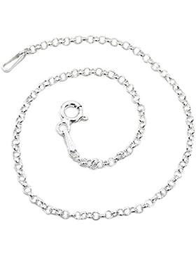 Rundanker Armband 925 Sterling Silber 1,9mm breit 19cm lang Silberkette Armkette