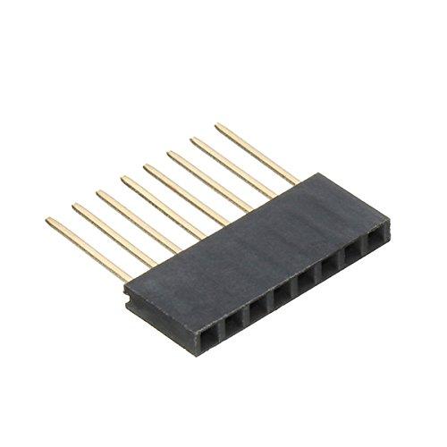 LaDicha 10pcs 8P 2,54 mm connecteur Long empilable Femelle en-tête de Broche