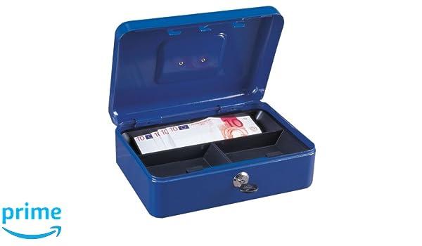 Euro-Geldz/ählkassette Rottner Geldkassette Wien Blau Zylinderschloss Kasse mit unterteiltem Geldeinsatz