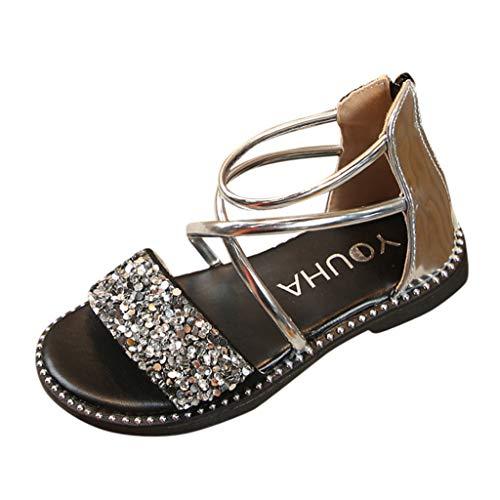 Vovotrade Kinder Mädchen Pailletten Prinzessin Schuhe einzelne Schuhe coole Schuhe, Cross Strap Design