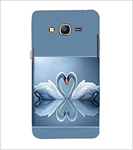 PrintDhaba Couple Swan D-1416 Back Case Cover for SAMSUNG GALAXY GRAND PRIME (Multi-Coloured)