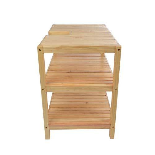 Waschtischunterschrank, Holz, Braun – 40x65x55cm - 4