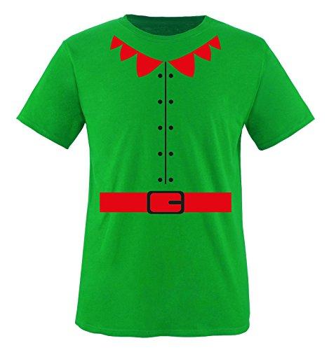 Comedy Shirts - Elfen KOSTÜM - Herren T-Shirt - Grün/Weiss Gr. - Rot Und Grün Elfe Kostüm