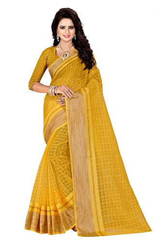 J B Fashion Women's Silk Saree With Blouse Piece (Sarees For Women-263_Yellow)
