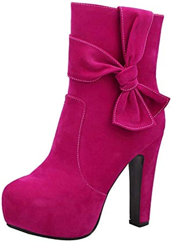 ZHRUI Stivaletti da Donna Sexy a Tacco Alto Impermeabili Impermeabili Impermeabili con Tacco Alto e Cerniera (Coloreee   Hot rosa, Dimensione... | Promozioni  55cc6a