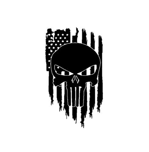 Autoaufkleber Aufkleber Mode Vinyl Auto Aufkleber Amerikanische Flagge Punisher Schädel Dekoration Aufkleber 9,4 CM * 16,4 CM 1 Stück -