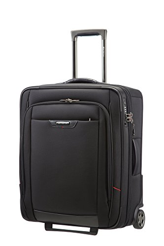 Samsonite Pro-Dlx 4 Upright 56/20 Exp Koffer, 56cm, 57 L, Black (Upright Erweiterbar Rollen Koffer)