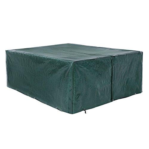 SONGMICS Abdeckhaube für Gartenmöbel, Schutzhülle 200 x 160 x 70 cm, für Gartentisch mit Stühlen, wasserdicht, winterfest, anti-UV, GFC91L