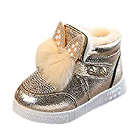 MERICAL Baby Girls Shoes Children Toddler Bunny Ears Sneaker Warm Soft Anti-Slip Single Shoes