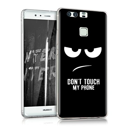 kwmobile Crystal Case Hülle für Huawei P9 - TPU Silikon Cover im Don't touch my Phone Design