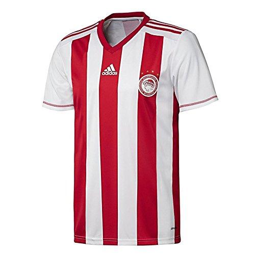 adidas Olympiakus Piräus Fanshirt - Herren Heimtrikot Home Jersey - S89364, Größe:XS