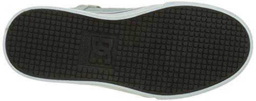 DC Shoes Spartan High, Baskets Hautes Garçon Gris (Grey/Black/Red)